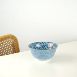 blue chinese bowl
