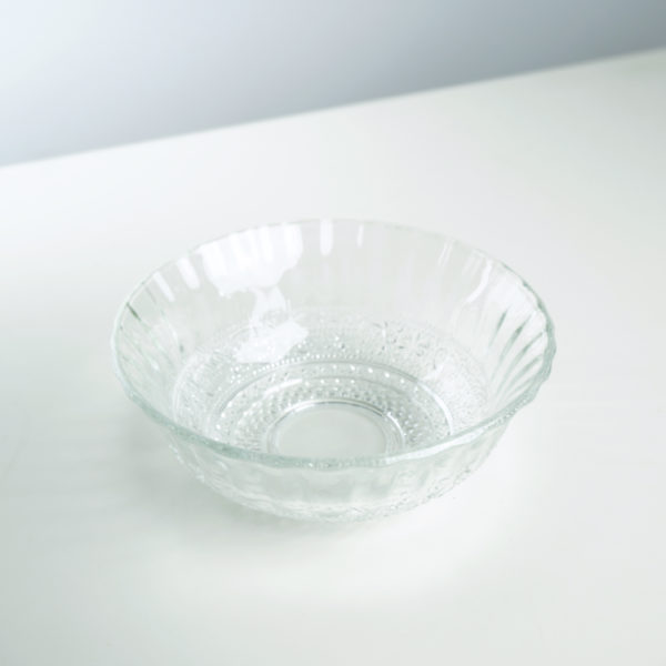 decorated glass bowl