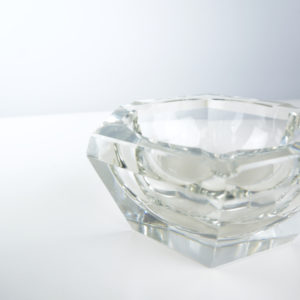 geometrical glass ashtray
